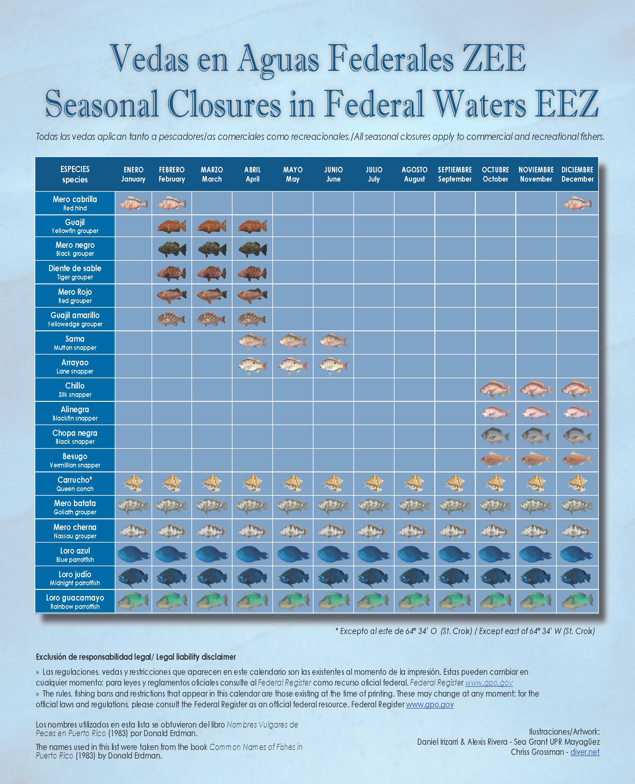 Louisiana fishing calendar 2016 all the best fish in 2018 for Nc fishing regulations 2017